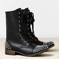 AEO STUDDED LACE-UP BOOT