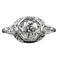 1.19 Carat Diamond Antique Engagement Ring