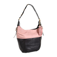 Nanette Lepore Leather Block Nappa Medium Hobo