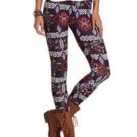 RED WHITE BLUE TRIBAL COTTON LEGGING