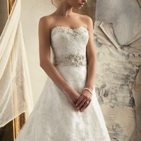 Strapless Alencon Lace by Bridal by Mori Lee