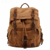 Awesome road trip large backpacks pack for men from Vintage rugged canvas bags