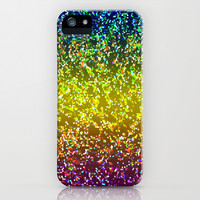 Glitter Graphic Background G107 iPhone & iPod Case by MedusArt