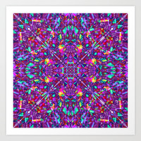 Purple Fractal Pattern Art Print by Hippy Gift Shop