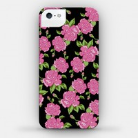 Black and Pink Floral Pattern (phone case)