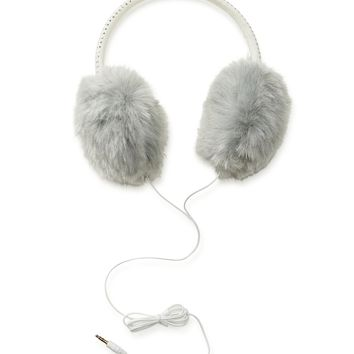 Studded Fuzzy Earmuff Headphones