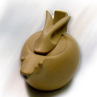 Ten Ren Tea - Chinese Zodiac Hare Pot in Golden Color