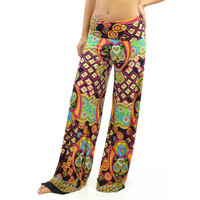 Kaleidoscope Dream Rust Palazzo Pants