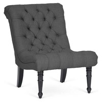 Caelie Lounge Chair, Charcoal