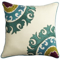 Jewel-Tone Suzani Pillow