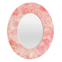 Rosie Brown Art Deco Pink Oval Mirror