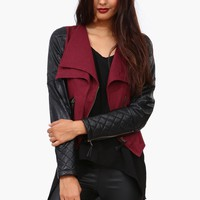 Quilt Leather Jacket