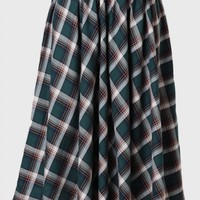 Ayrshire Plaid Midi Skirt