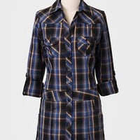 Find Your Place Plaid Tunic Dress