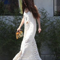 Jen's Pirate Booty Infinity Low Back Maxi Dress In Shell As Seen On Selena Gomez