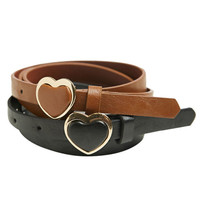 Heart Buckle Belt Set