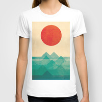 The ocean, the sea, the wave T-shirt by Budi Satria Kwan