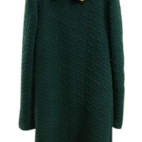 ROMWE | ROMWE Dual-tone Rhombus Beaded Green Dress, The Latest Street Fashion