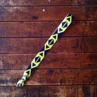 Black & Lime Geometric Headband