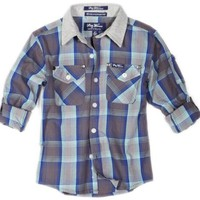 LRG - Kids Boys 2-7 Toddler Heartbreak Ridge Plaid Woven Shirt