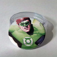 Comic Book 1.5 Button// Green Lantern Hal Jordan