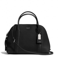 BLEECKER BISTRO SATCHEL IN PEBBLED LEATHER