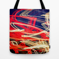 dancing lights Tote Bag by Marianna Tankelevich