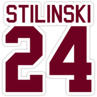 Stiles Stilinski's Jersey - maroon/red text