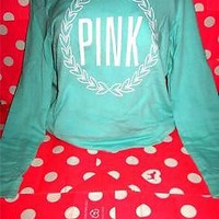 NWT VICTORIA'S SECRET PINK BLACK FRIDAY PULLOVER  HOODIE SWEATSHIRT SIZE LARGE