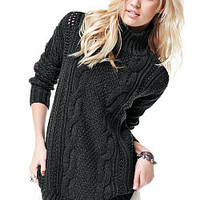 Cable-knit Turtleneck Tunic - Victoria's Secret