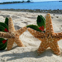 Starfish Christmas Decorations, Sugar starfish Christmas Ornament, Hawaii