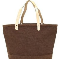 Joli Solid Color Jute Burlap Tote Bag