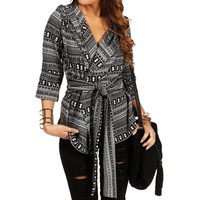 BlackIvory Tribal Print Jacket