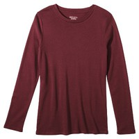 Merona® Women's Long Sleeve Ultimate Crew Tee - Assorted Colors