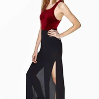 Nasty Gal Paragon Velvet Dress