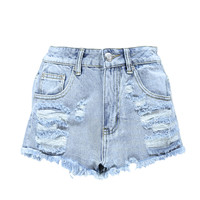 Roksana Studded Pocket Heavily Distressed Hotpants