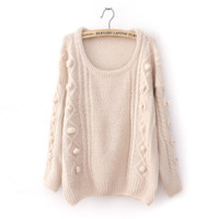 Wool Loose Long Sleeve Thicker Sweater