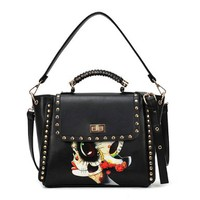 Folk Style Stylish Skull Rivet Handbag Shoulder Bag