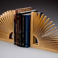 Abanico Bookend by Seth Rolland: Wood Bookend | Artful Home