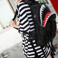 PU Shark Large Backpack From Pomelo