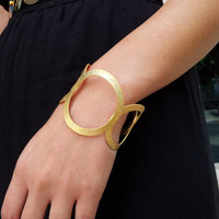 Gold Brushed Circled Bracelet