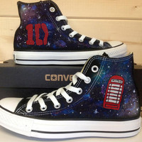 One Direction in the Galaxy Painted Shoes / Hand Painted / Custom Shoes