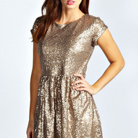 Jules All Over Cluster Sequin Smock Dress