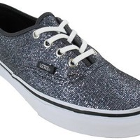 Vans Unisex's VANS AUTHENTIC (GLITTER) SKATE SHOES 5 Men US / 6.5 Women US (GREY/MICRO DOTS)