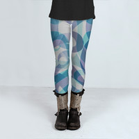 Leggings Floral abstract background 1 by Medusa81 (Leggings)