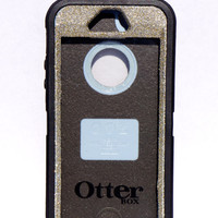 Otterbox Case iPhone 5/5s Glitter Cute Sparkly Bling Defender Series Custom Case White Gold / Black