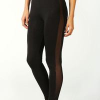 Lottie Mesh Side Panel Jersey Leggings