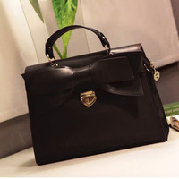 Fashion Korean Style Women Sweet Three-dimensional bow shoulder bag Satchel bag