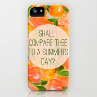 SHAKESPEARE- SONNET 18 iPhone & iPod Case by Rebecca Allen