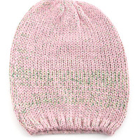 Pink Sequined Colored Beanie